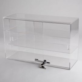 Acrylic 2 Shelf Counter Top Display Case