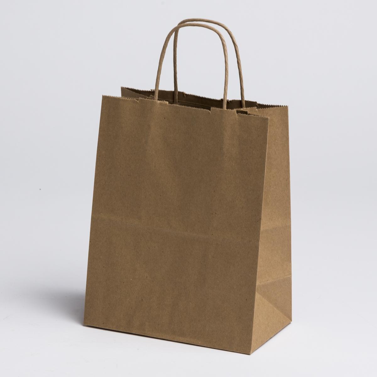 kraft paper shopping bags medium a b store fixtures. Black Bedroom Furniture Sets. Home Design Ideas