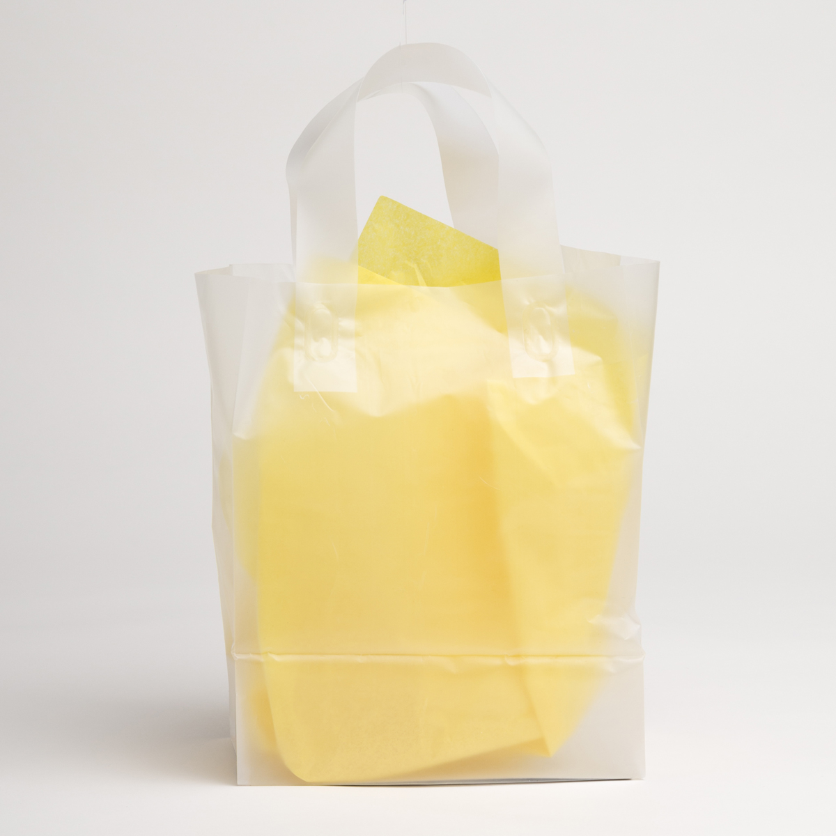 Clear Frost Plastic Shopping Bags - Medium | A&B Store ...