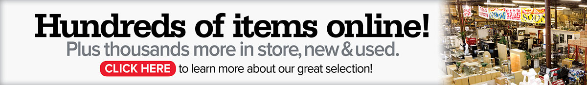 A&B Store Fixtures Web Banner Hundreds of Items Online