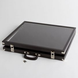 Medium Clear Cover Black Display Case