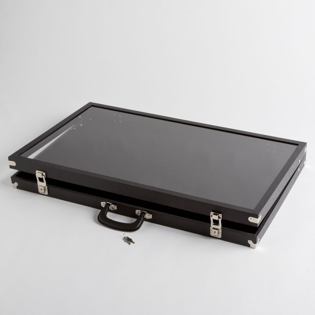Large Clear Cover Black Display Case