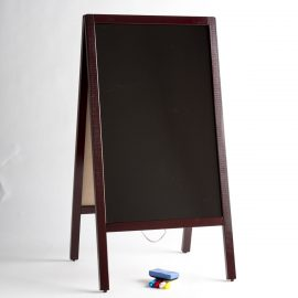 Mahogany A Frame Marking Board with Markers