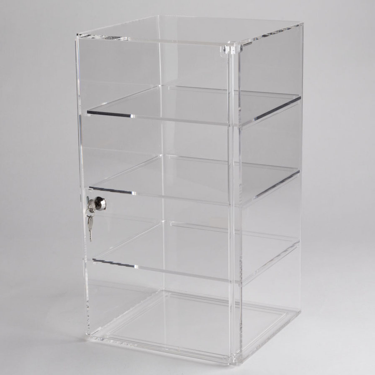 acrylic counter top tower display case a b store fixtures rh abfixtures com