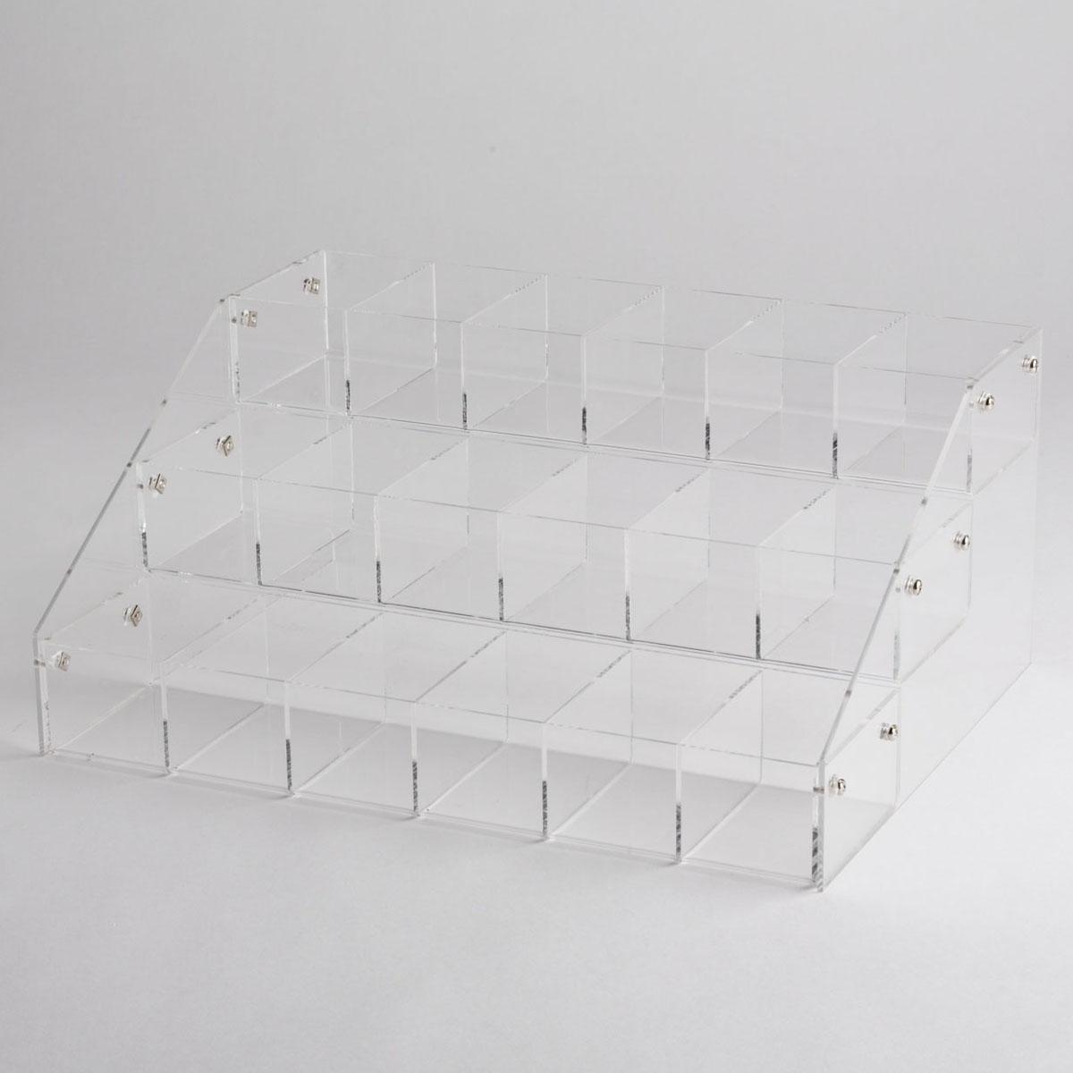 Acrylic 18 Bin Counter Top Display