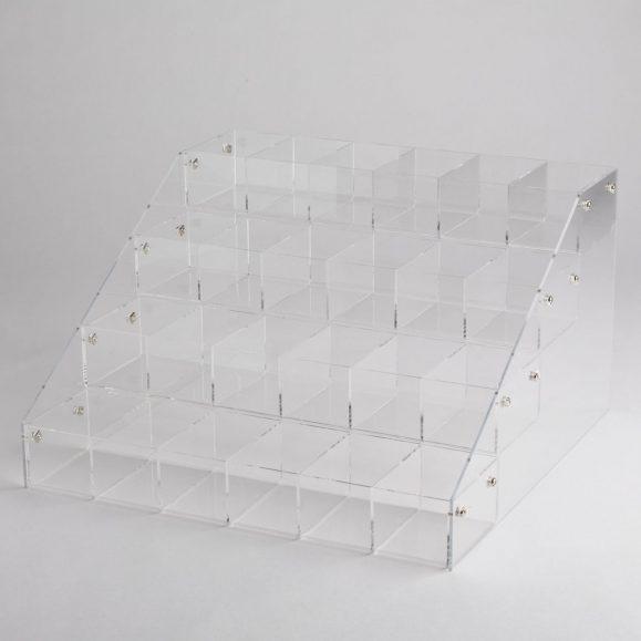 Acrylic 24 Bin Counter Top Display