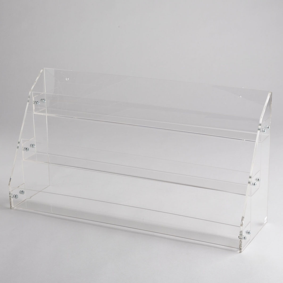 Acrylic 3 tier counter top display a b store fixtures for Acrylic bar top