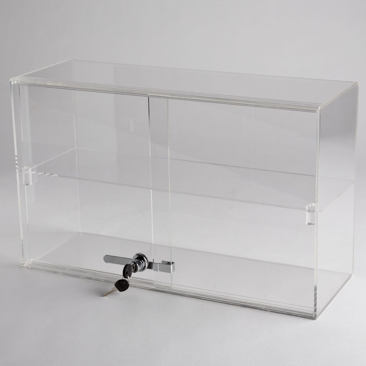 Acrylic 1 Shelf Counter Top Display Case