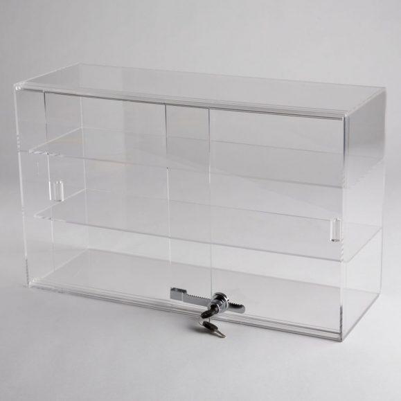 Acrylic 2 Shelf Counter Top Display Case