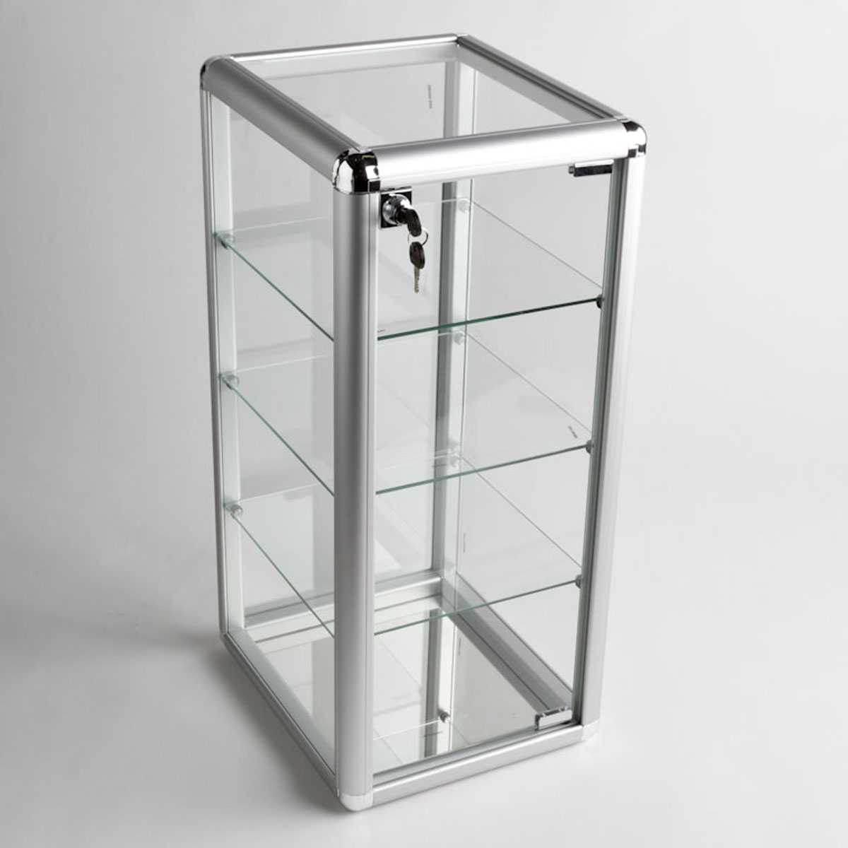 Table top display case - Glass Counter Top Aluminum Frame Display Case