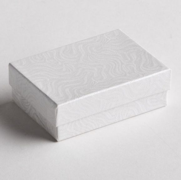 White Swirl Earring Boxes