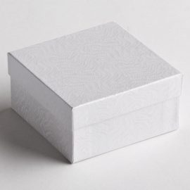 White Swirl Jewelry Boxes