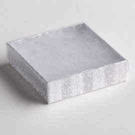 Clear Top Silver Texture Bracelet Boxes