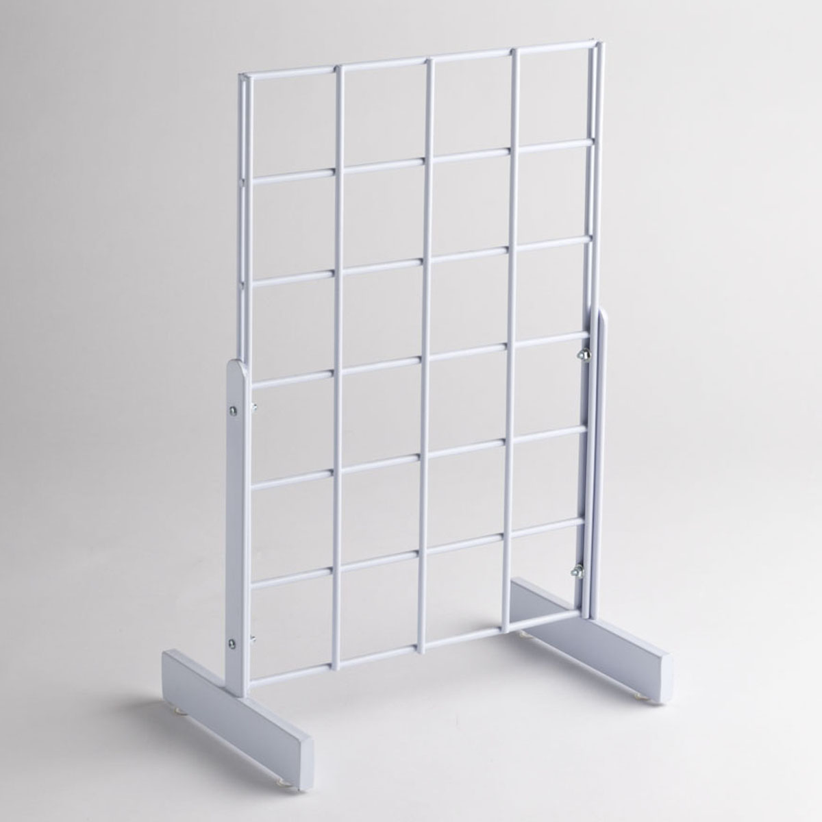 White Grid Counter Top Display