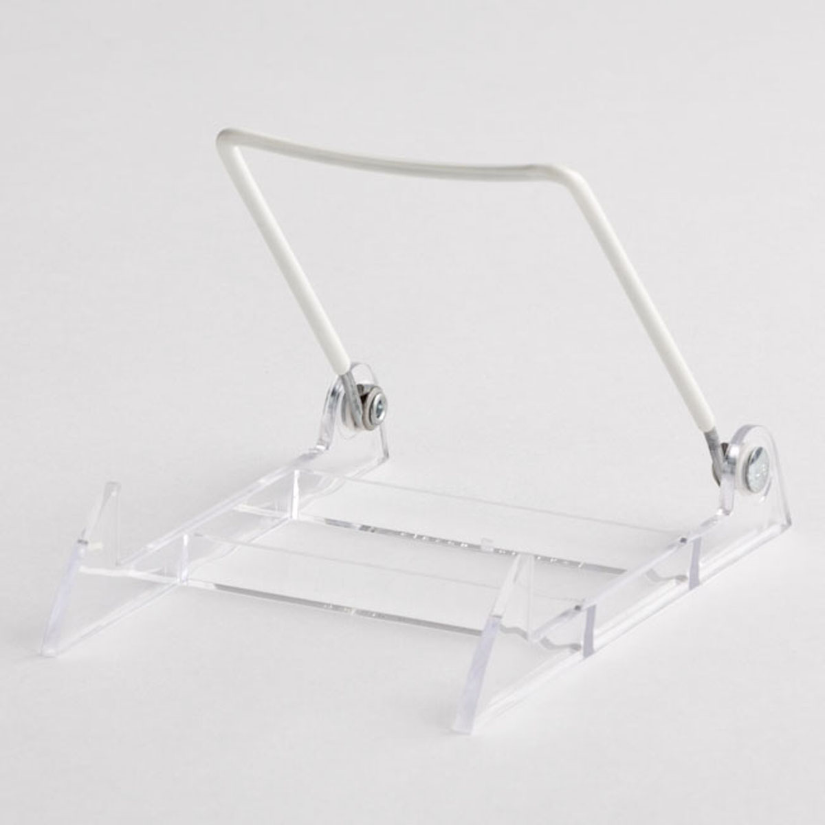 CLEAR EASEL-WHITE WIRE BACK