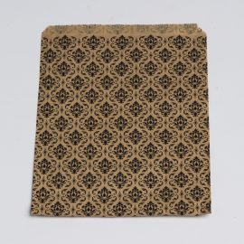 Damask Large Flat Paper Bag