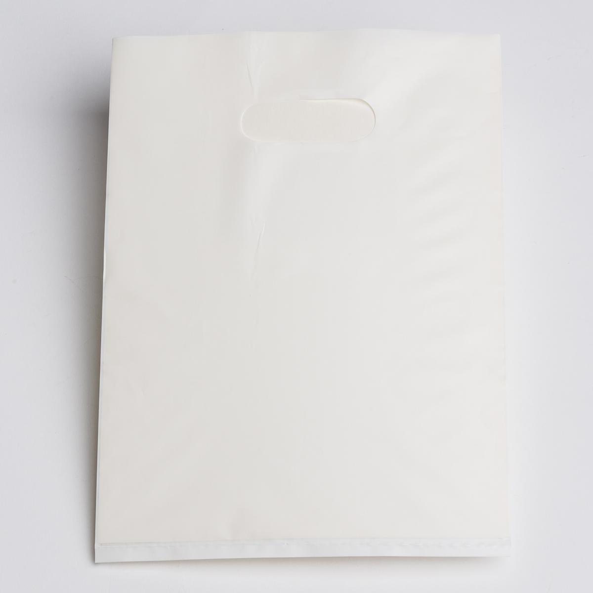 WHITE FLAT PLASTIC