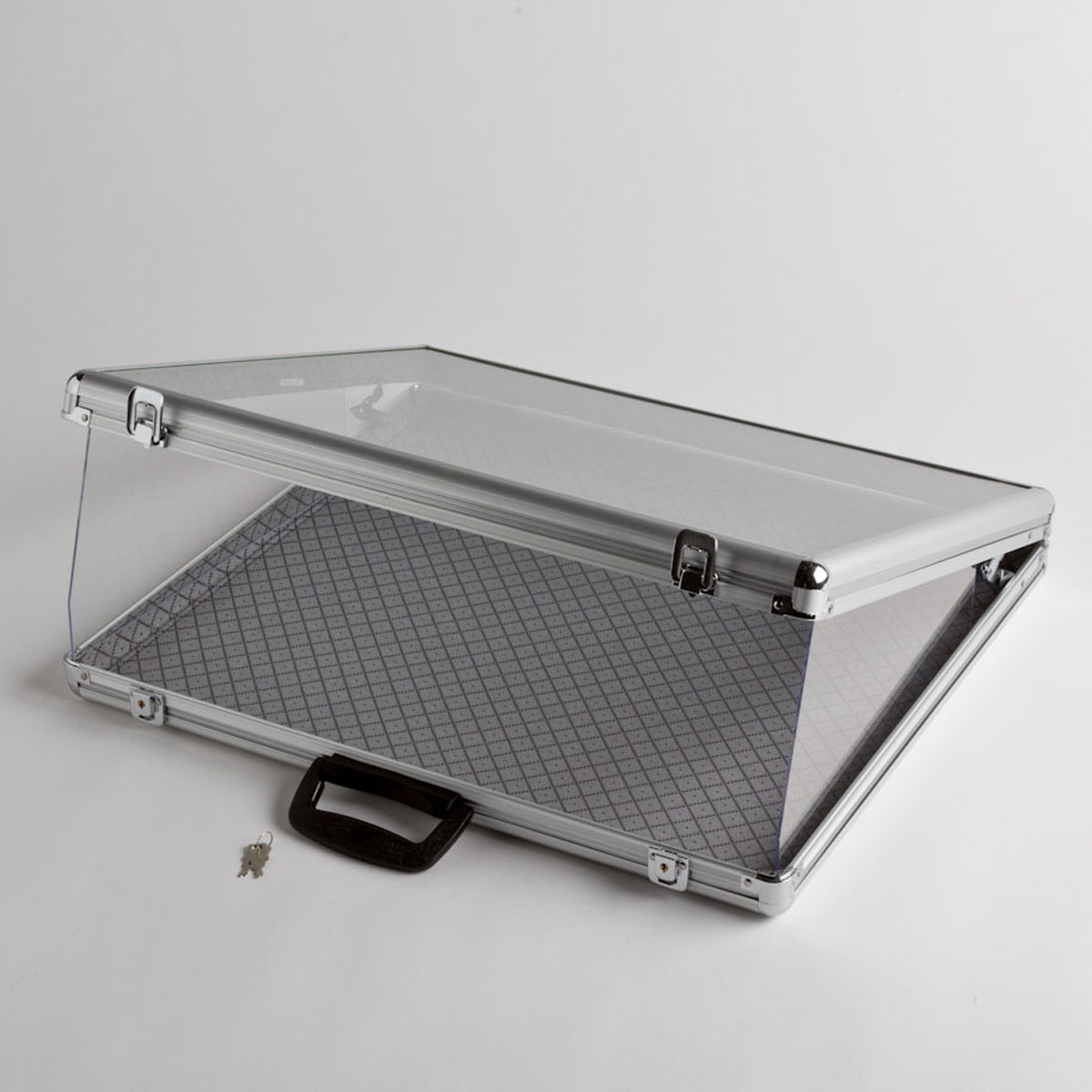 Small Aluminum Display Case with Glass Cover