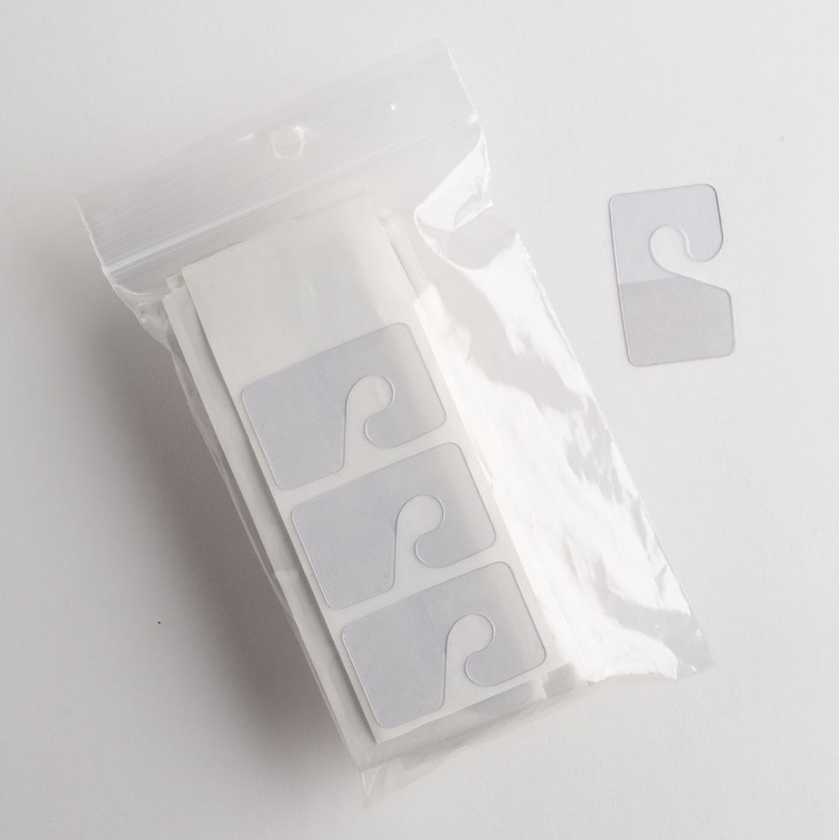 Clear Hang Tabs With Hook 100 Pcs A Amp B Store Fixtures