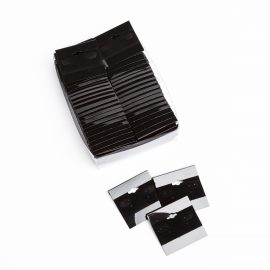 EARRING CARDS-BLACK PLASTIC