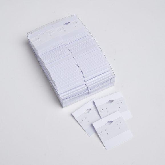 EARRING CARDS-WHITE PLASTIC