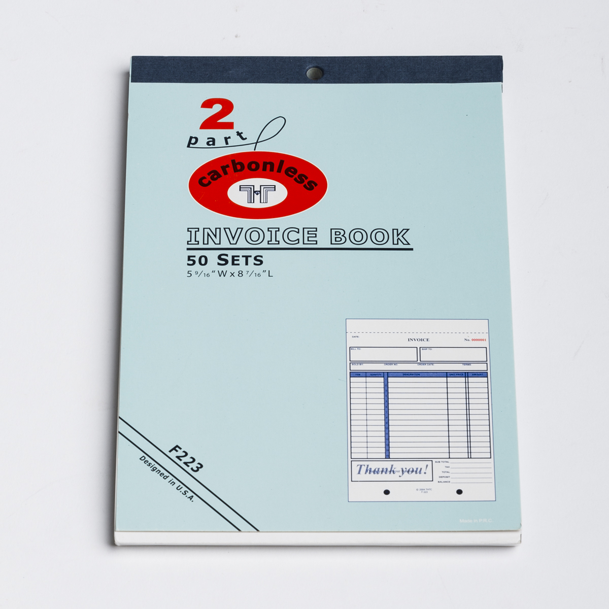 INVOICE BOOK-2 PART CARBONLESS