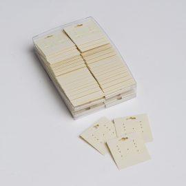 EARRING CARDS-BEIGE PLASTIC