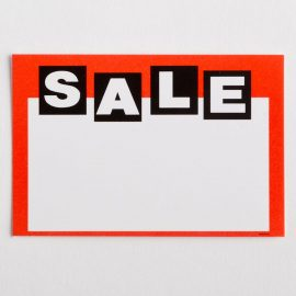 """Sale"" Paper Price Tags"