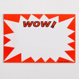 "Small ""Wow"" Paper Price Tags"