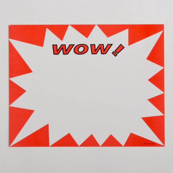 "Large ""Wow"" Paper Price Signs"