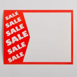"""Sale Sale Sale"" Paper Price Signs"
