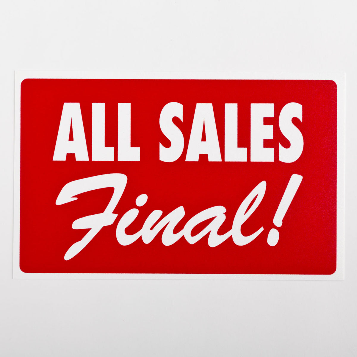 All Sales Final Sign