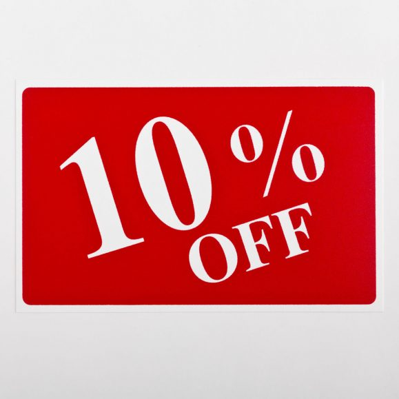 10% Off Sign