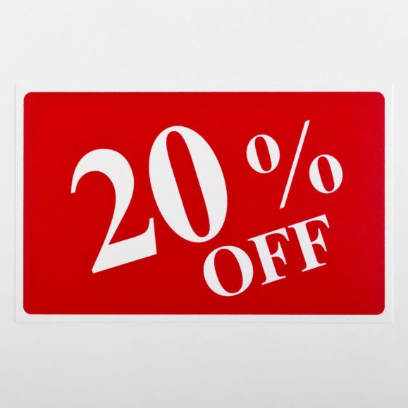 20% Off Sign