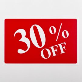 30% Off Sign