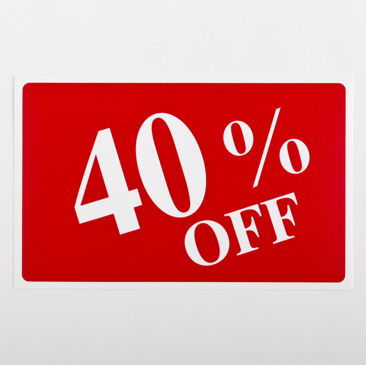 40% Off Sign