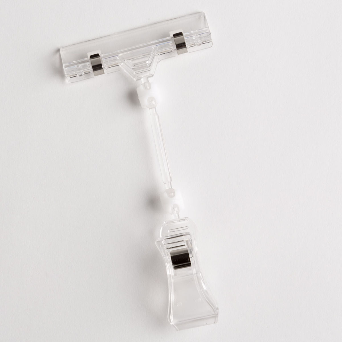 SIGN CLIP-CLEAR PLASTIC