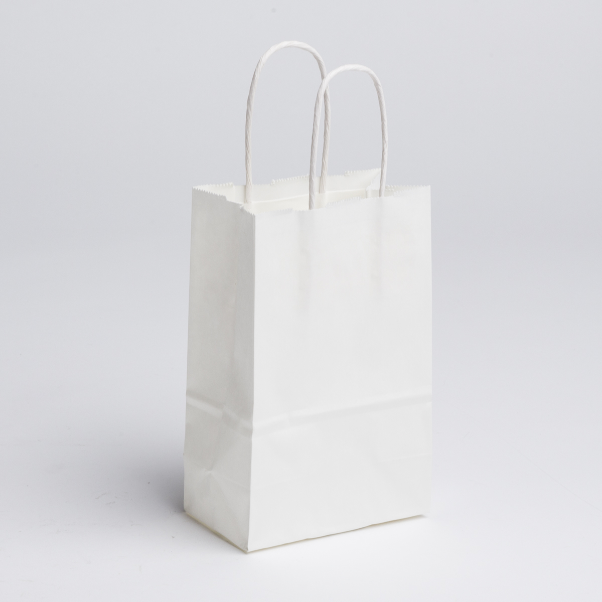 Small Paper Shopping Bags - White  cbf2b0bf86e1b