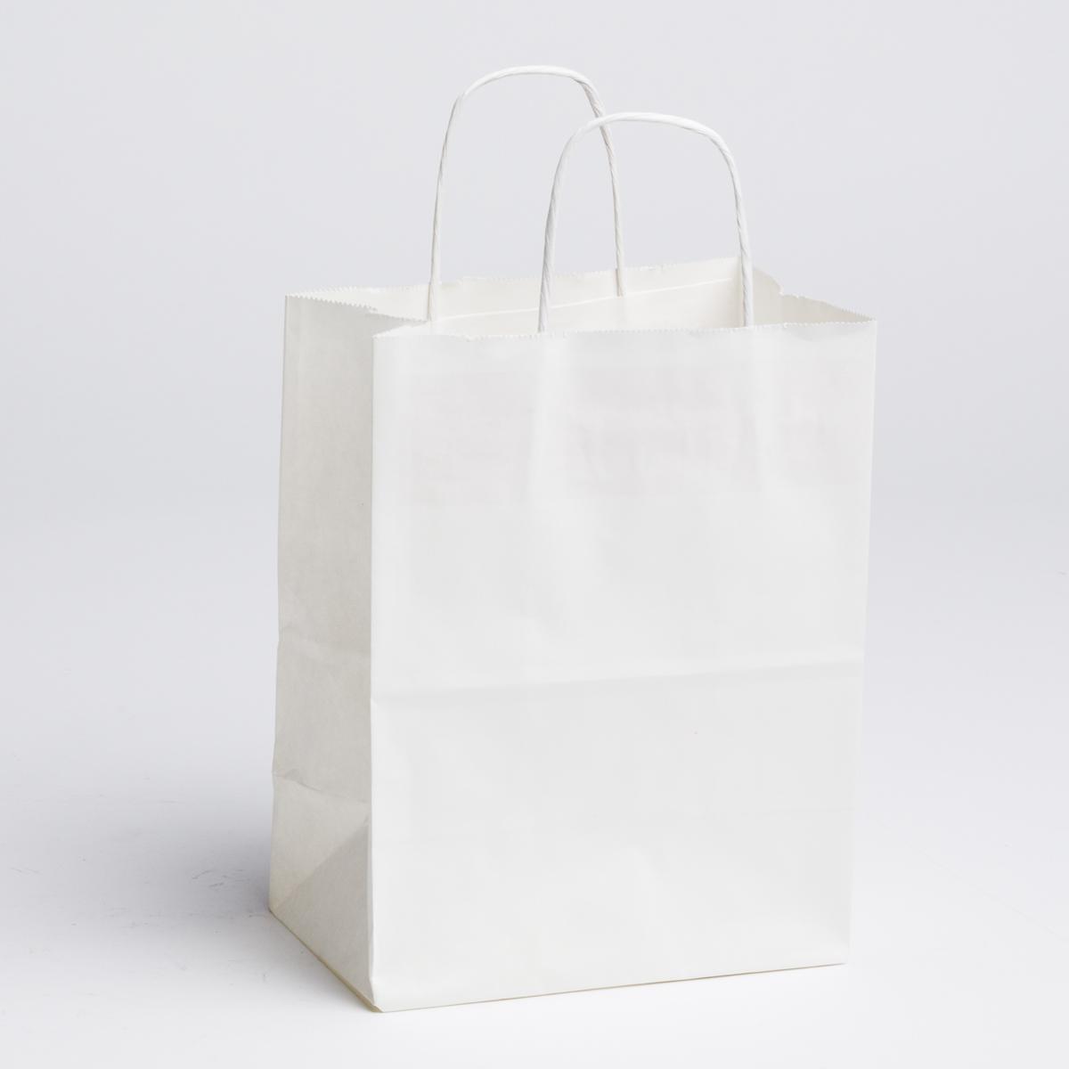 Medium White Paper Ping Bags 100 Pcs