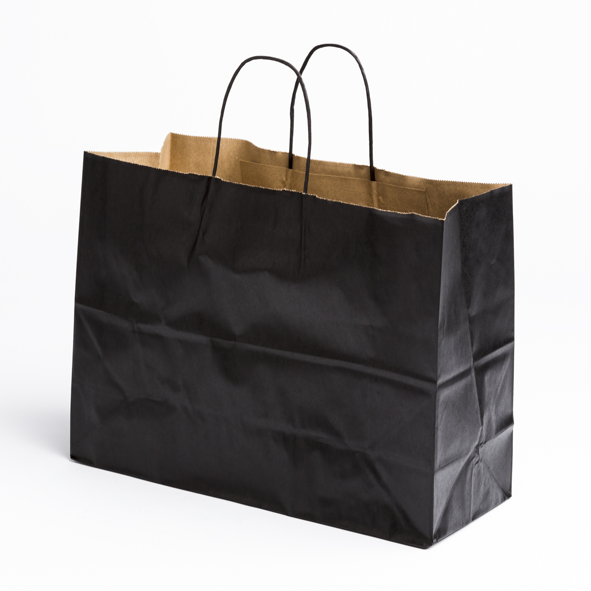 Black Paper Shopping Bags - Large | A&B Store Fixtures