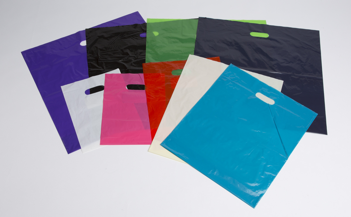 T Shirt & Colored Plastic Bags