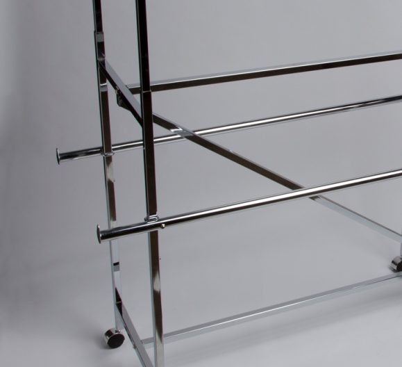 H Rack Double Hang Rail Bars