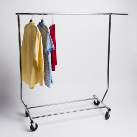 SINGLE RAIL SALESMAN ROLLING RACK