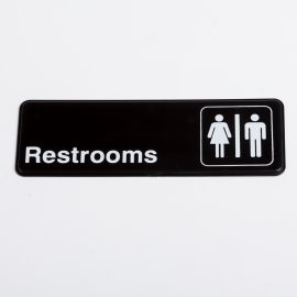 Small Restrooms Sign