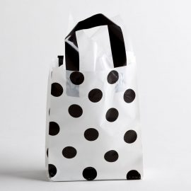 BLACK-WHITE DOT PLASTIC SHOPPING BAGS