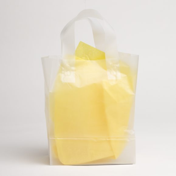 CLEAR FROST PLASTIC SHOPPING BAGS