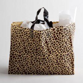 LEOPARD PLASTIC SHOPPING BAGS