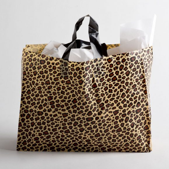 LEOPARD PLASTIC SHOPPING BAGS