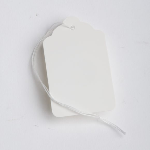 WHITE PRICE TAG-BLANK-WITH STRING