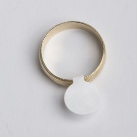 WHITE PRICE LABEL-JEWELRY BLANK WITH PEN